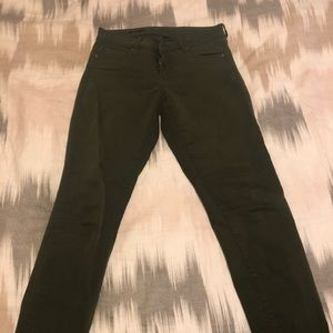 Kut from the Kloth Diana skinny jeans green